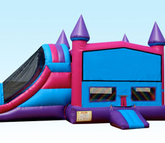 Baby Blue Combo Bounce House